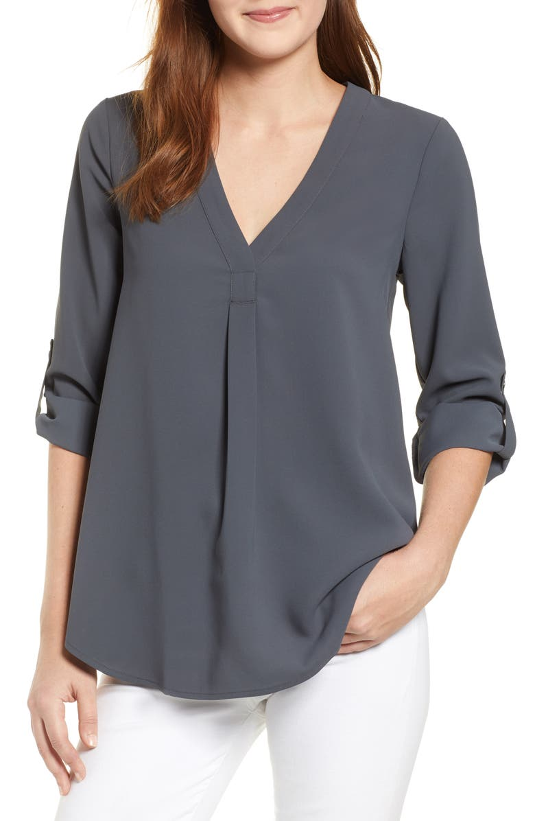 EVERLEIGH Roll Tab Sleeve Tunic, Main, color, 020