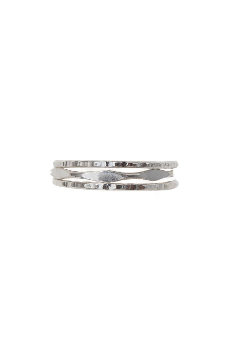 TERESSA LANE JEWELRY Set of 3 Kahala Stacking Rings, Main, color, SILVER