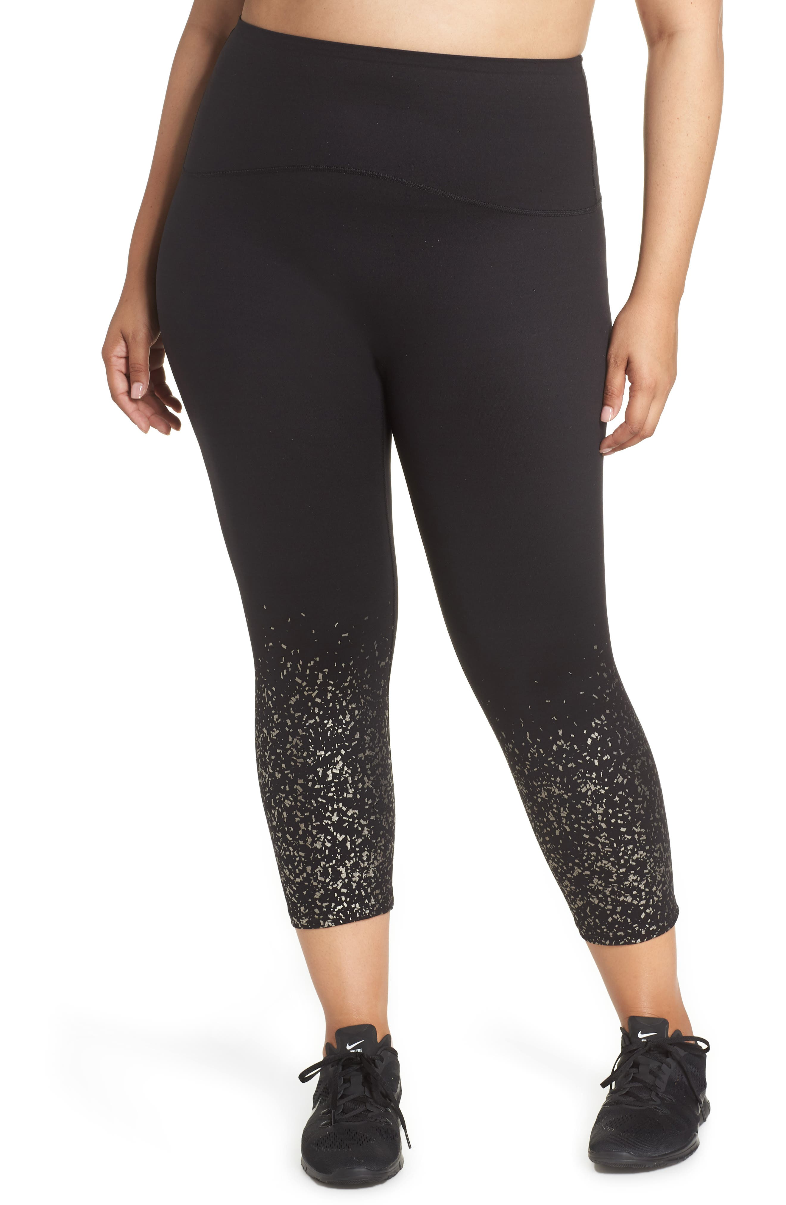 ,                             Active Print Crop Leggings,                             Main thumbnail 1, color,                             METALLIC CONFETTI