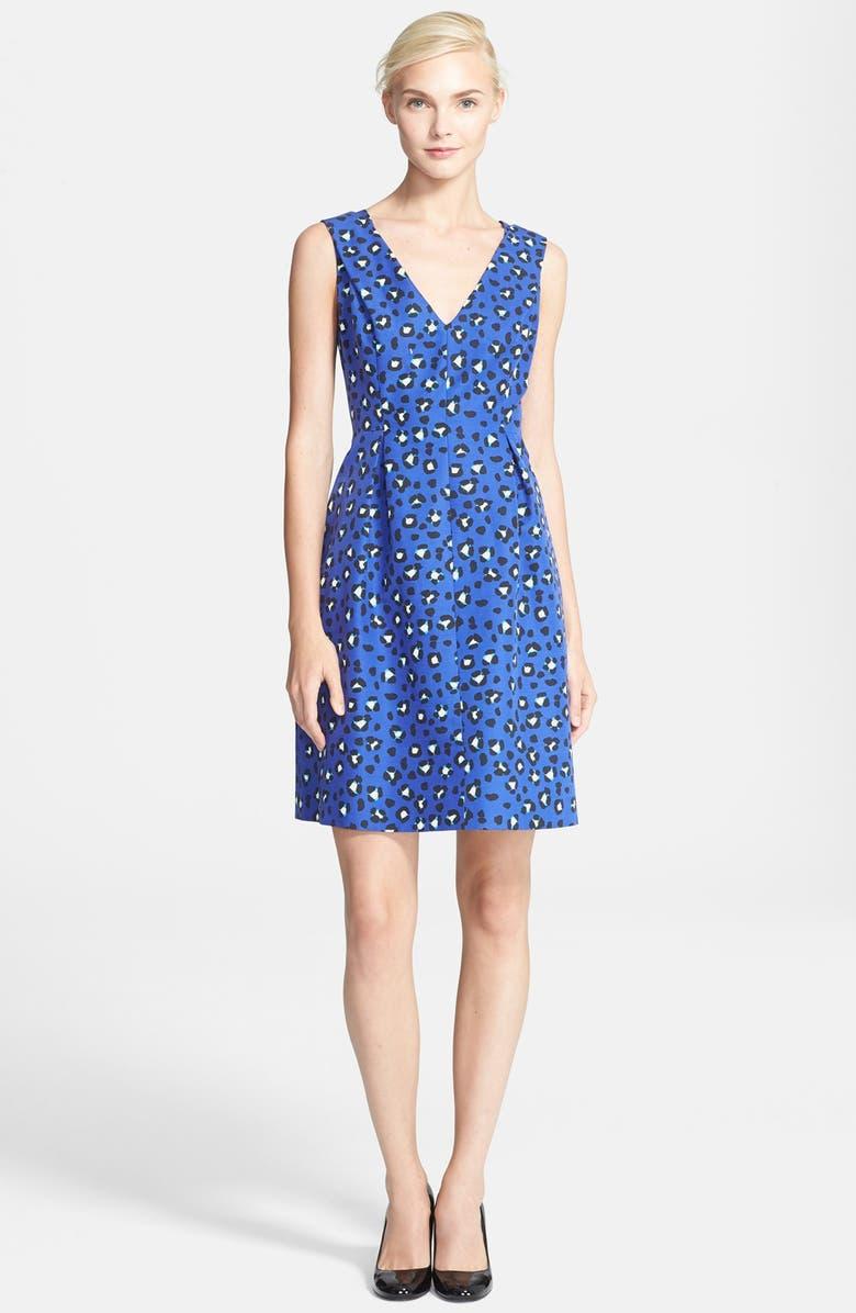 KATE SPADE NEW YORK 'dawson' cheetah print fit & flare dress, Main, color, 409
