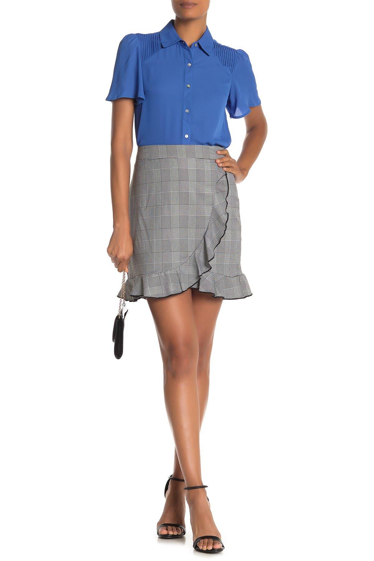 Image of NANETTE nanette lepore Ruffle Plaid Skirt