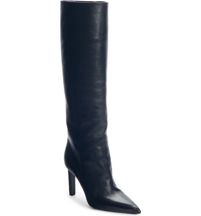 SAINT LAURENT Kate Straight Knee High Boot, Main, color, BLACK