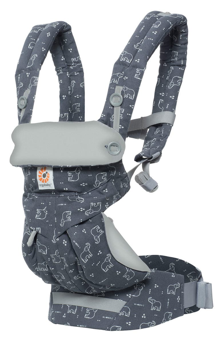 ERGOBABY '360' Baby Carrier, Main, color, GREY WITH ELEPHANTS