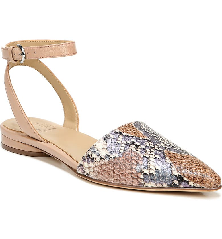 NATURALIZER Hartley Ankle Strap Sandal, Main, color, PASTEL SNAKE PRINT