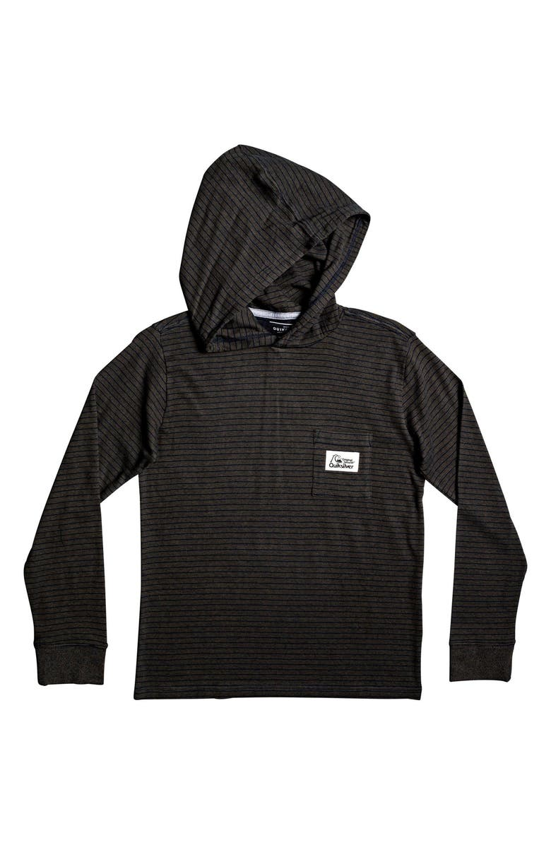 QUIKSILVER Zermet Stripe Cotton Hoodie, Main, color, 002