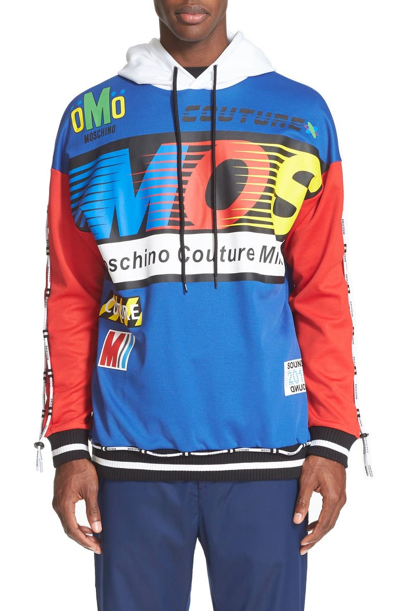 MOSCHINO Graphic Hoodie, Main, color, 469
