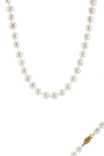 Image of Splendid Pearls Yellow Gold Plated 8-8.5mm Cultured Freshwater Pearl Necklace