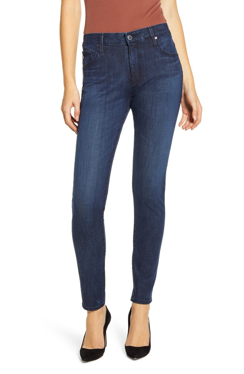 AG The Farrah High Waist Ankle Skinny Jeans, Main, color, PARADOXICAL