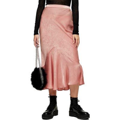 Topshop Flounce Midi Skirt, US (fits like 0) - Pink