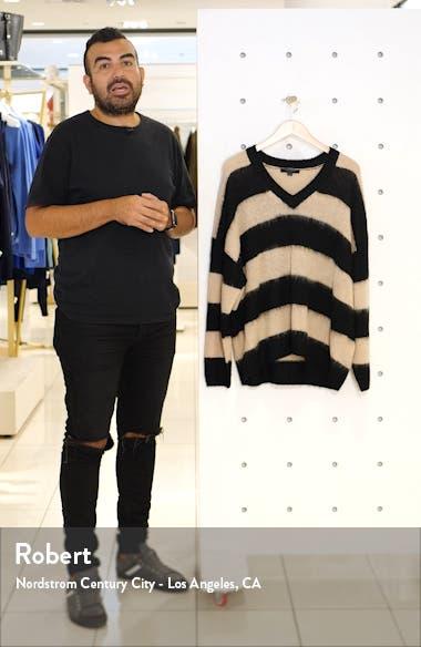 Lou Stripe V-Neck Pullover, sales video thumbnail