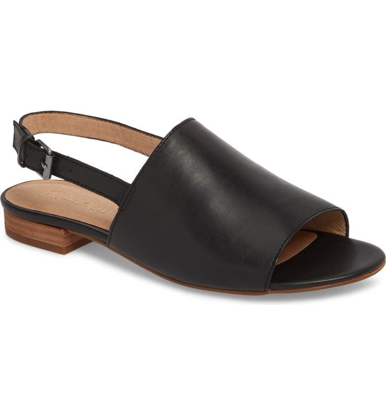 MADEWELL Noelle Slingback Sandal, Main, color, TRUE BLACK LEATHER