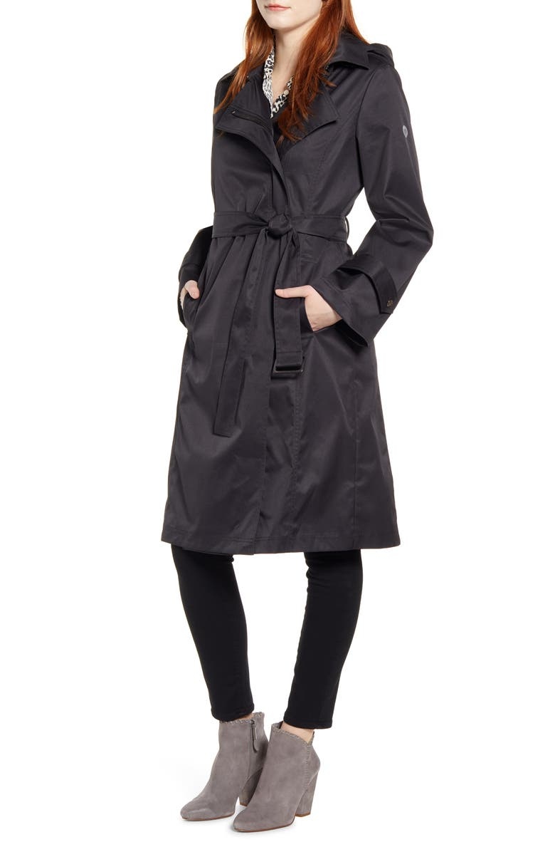 Hooded Water Resistant Trench Coat by Bernardo