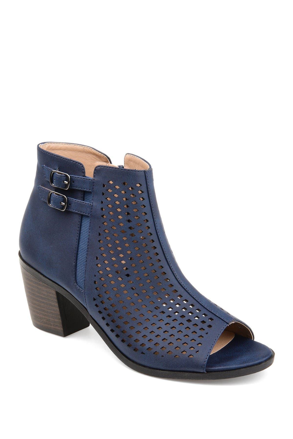 Image of JOURNEE Collection Harlem Perforated Bootie