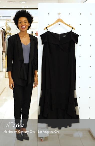 Off the Shoulder High/Low Cocktail Dress, sales video thumbnail