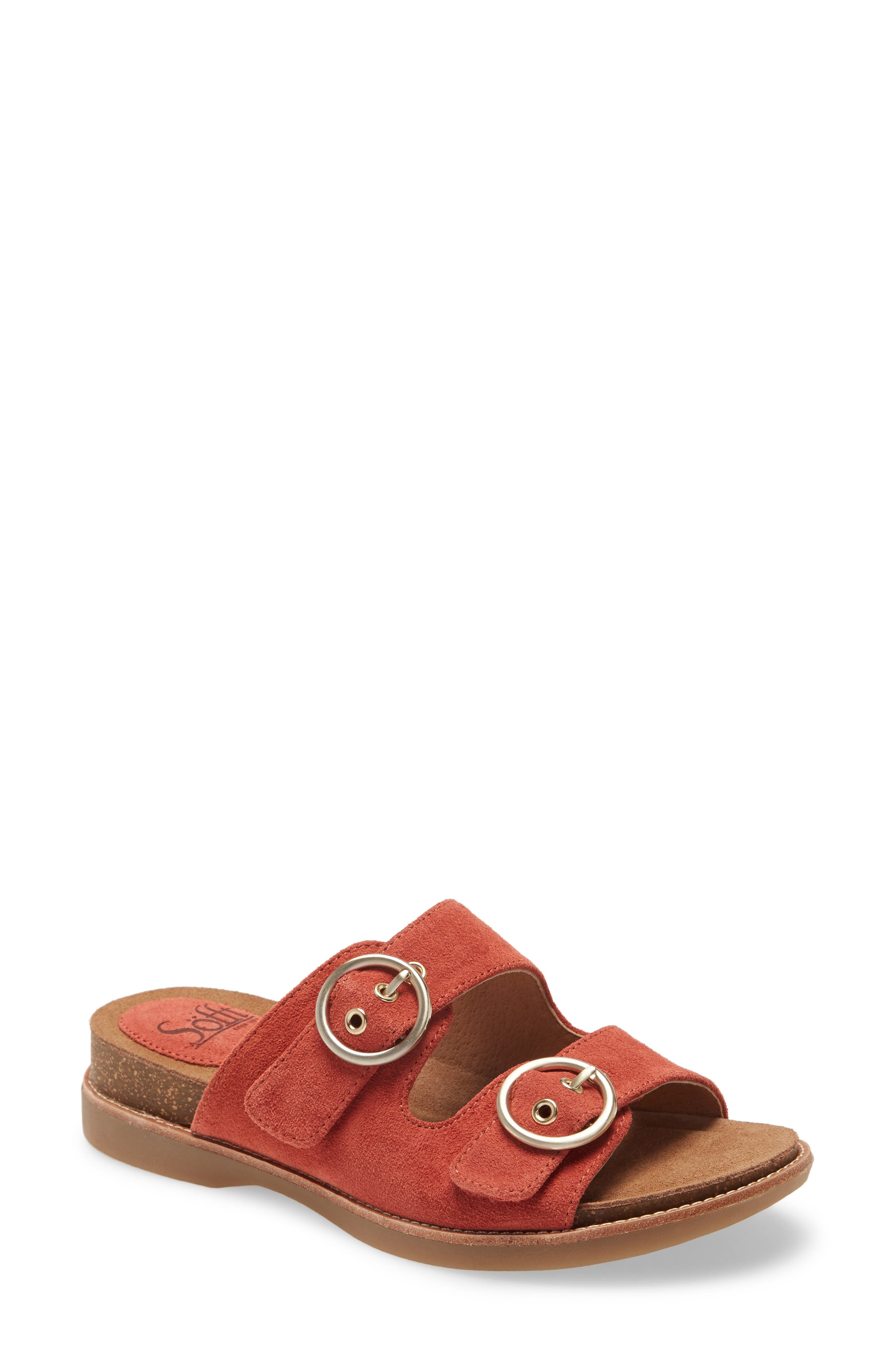 A high-density foam footbed conforms to your foot in this smart walking sandal with a stylish two-buckle strap. Style Name: Softt Brooklyn Sandal (Women). Style Number: 5993840. Available in stores.