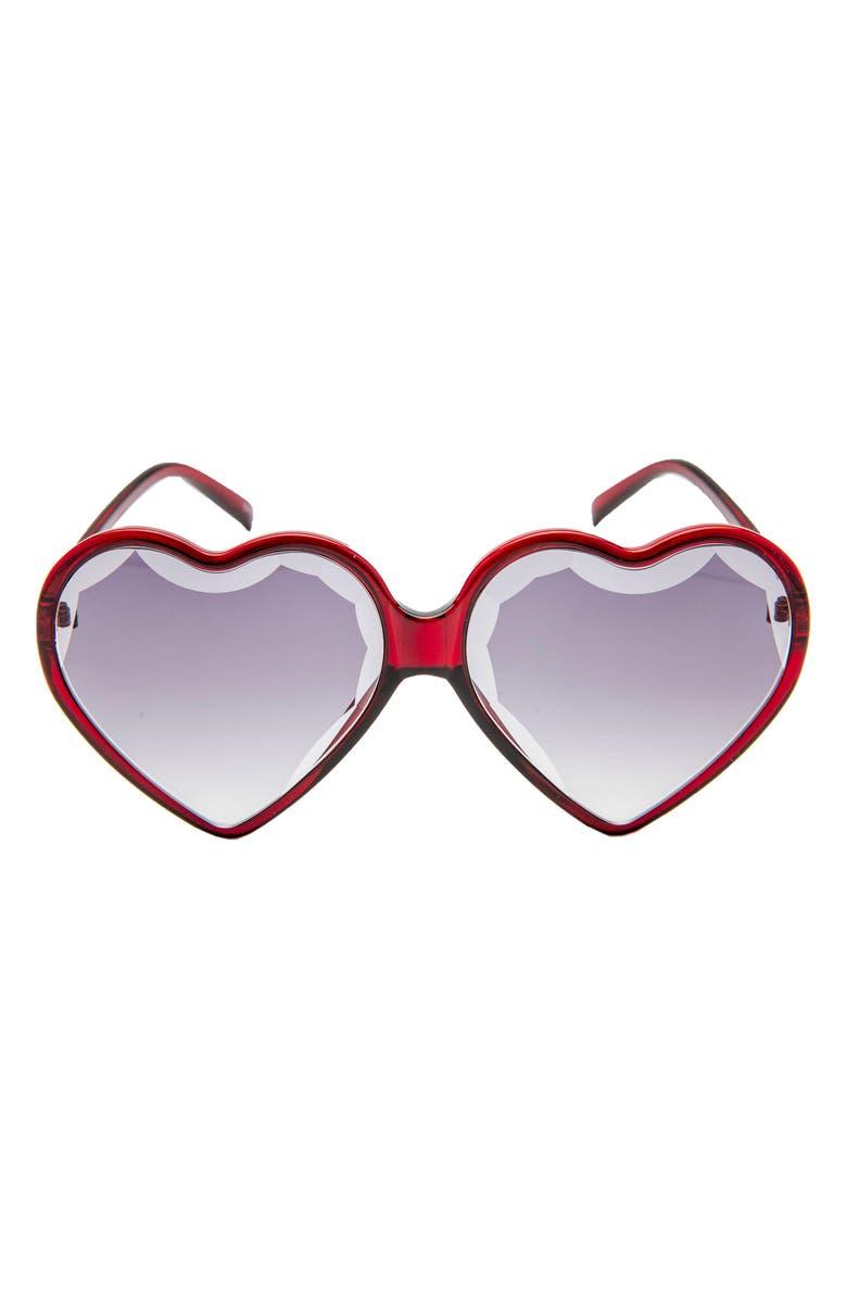 RAD + REFINED Heart Shaped Sunglasses, Main, color, 200