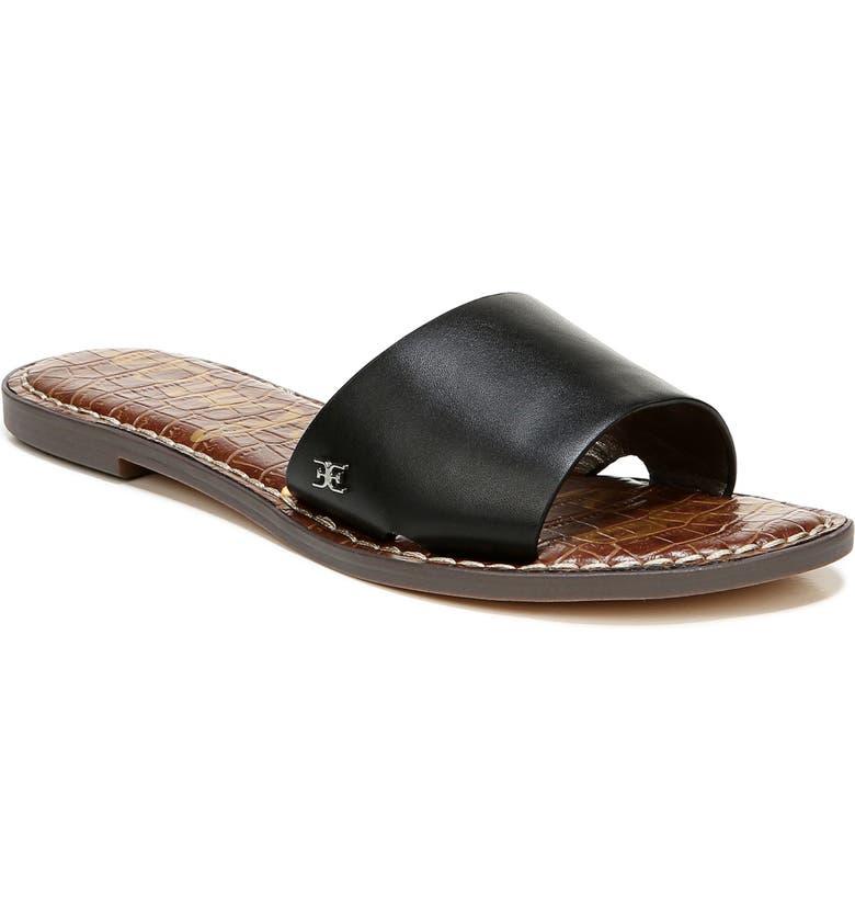 SAM EDELMAN Genesis Slide Sandal, Main, color, BLACK LEATHER