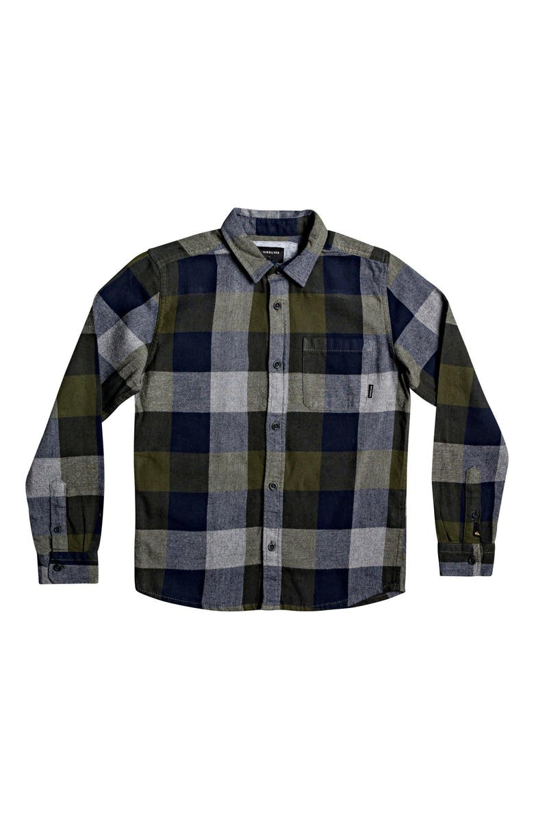 QUIKSILVER Motherfly Flannel Shirt, Main, color, DEEP DEATHS