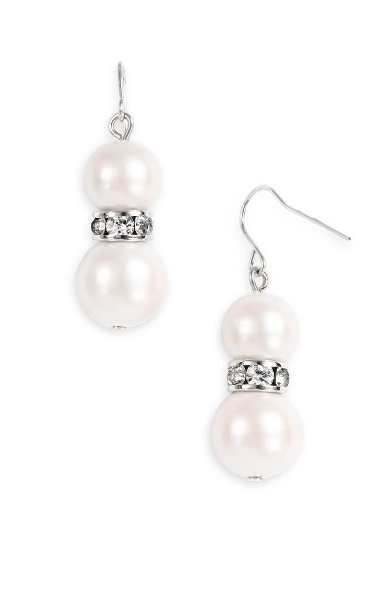 KATE SPADE NEW YORK 'metropolitan pearls' drop earrings, Main, color, 114