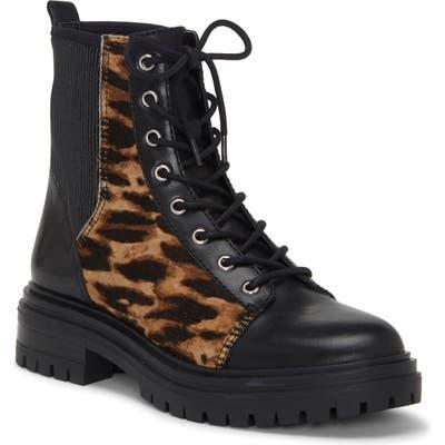 Vince Camuto Bestenda Combat Boot- Black