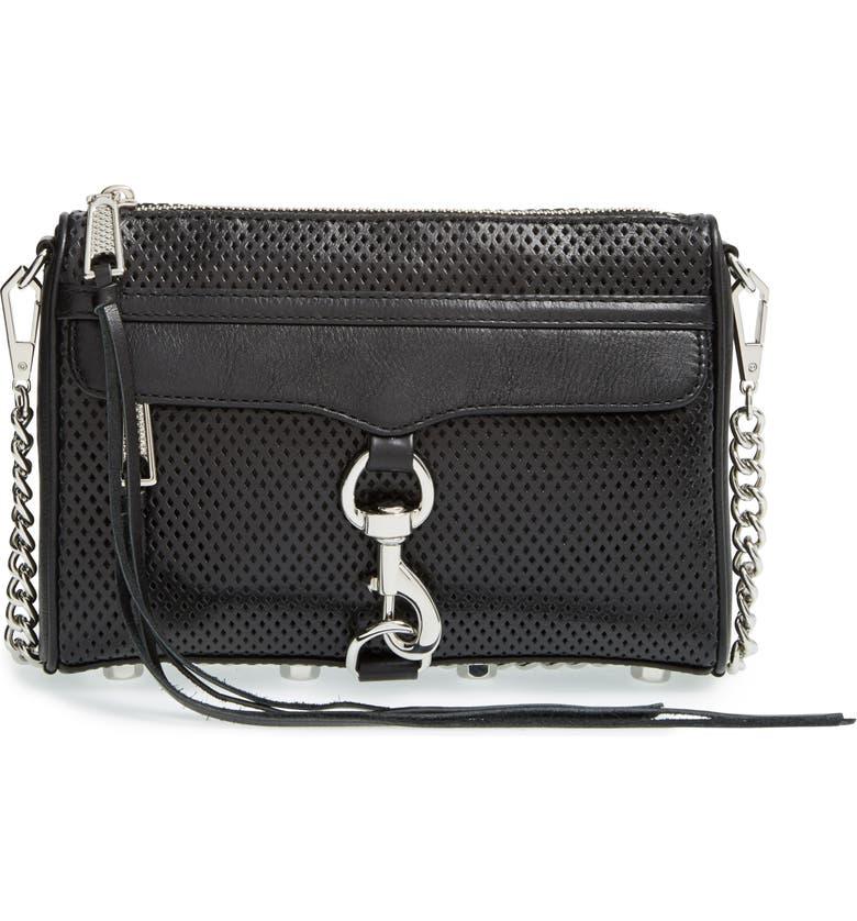 REBECCA MINKOFF Mini MAC Convertible Crossbody Bag, Main, color, 001