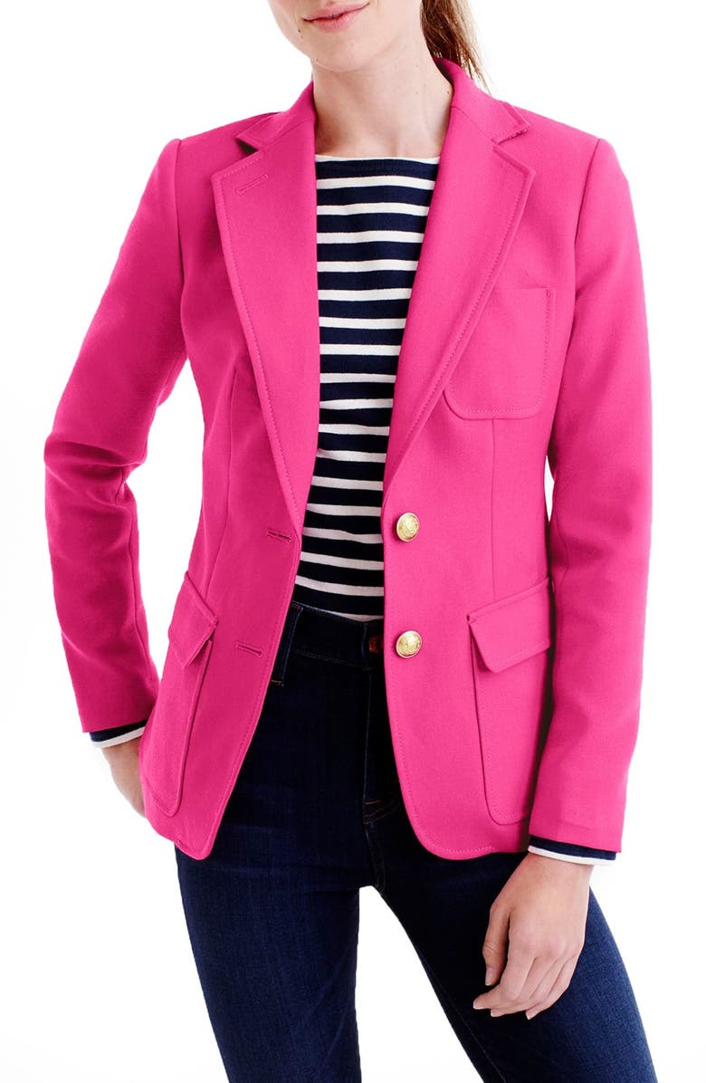 J.CREW 'Rhodes' Italian Wool Blazer, Main, color, 650