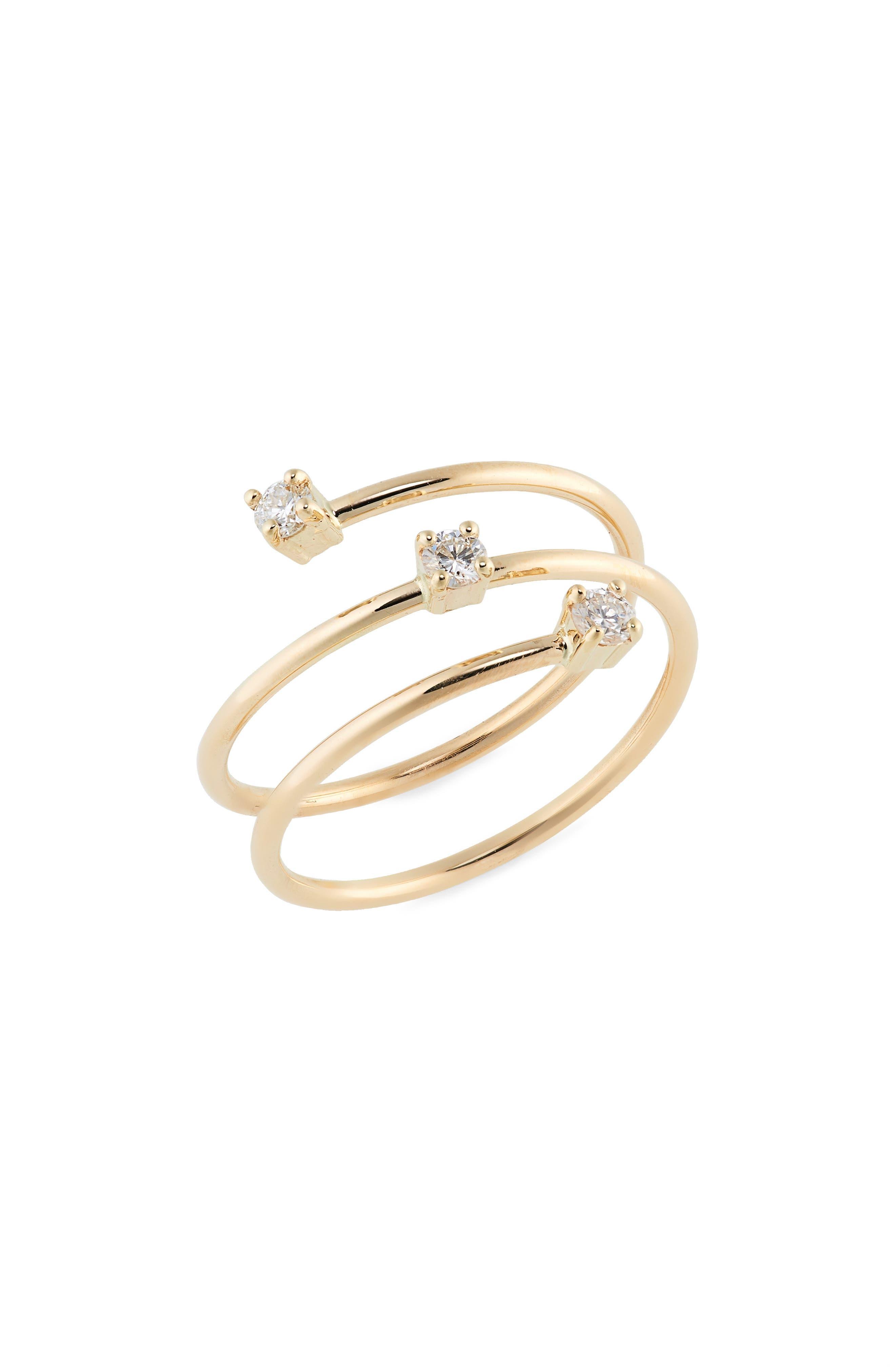 Triple Diamond Wrap Ring