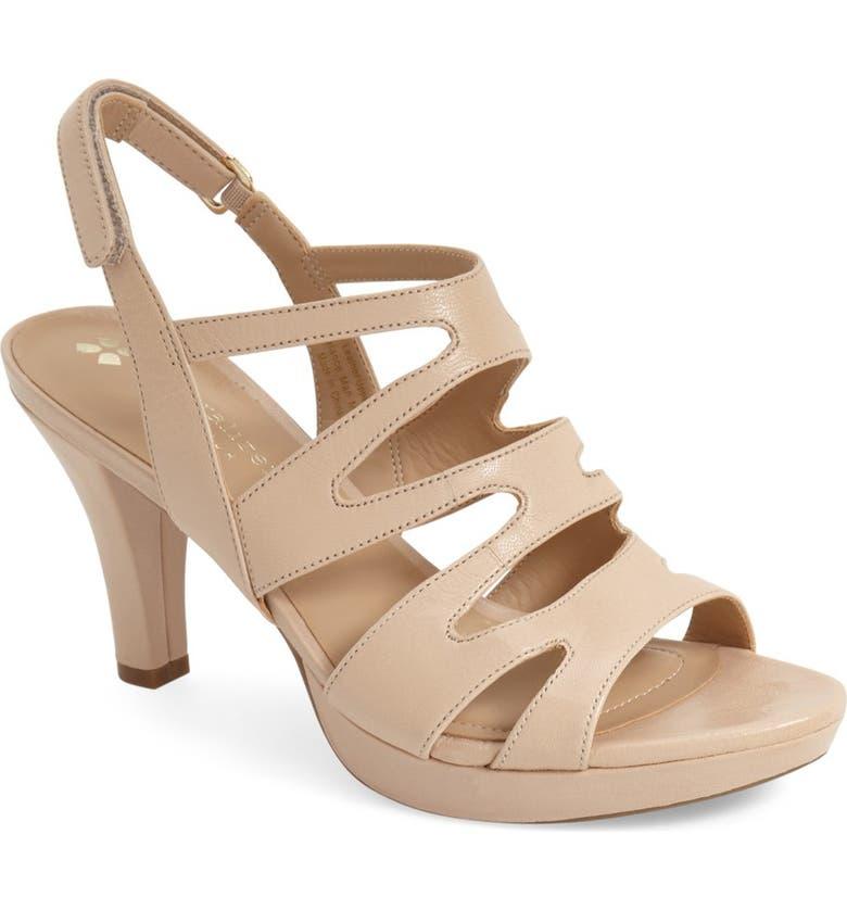 NATURALIZER 'Pressley' Slingback Platform Sandal, Main, color, TAUPE LEATHER
