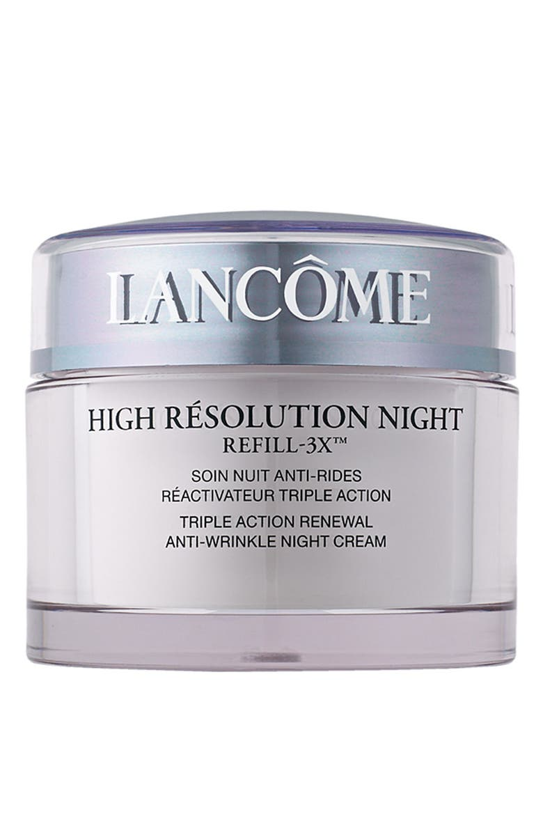 LANCÔME High Résolution Refill-3X Anti-Wrinkle Night Moisturizer Cream, Main, color, NO COLOR