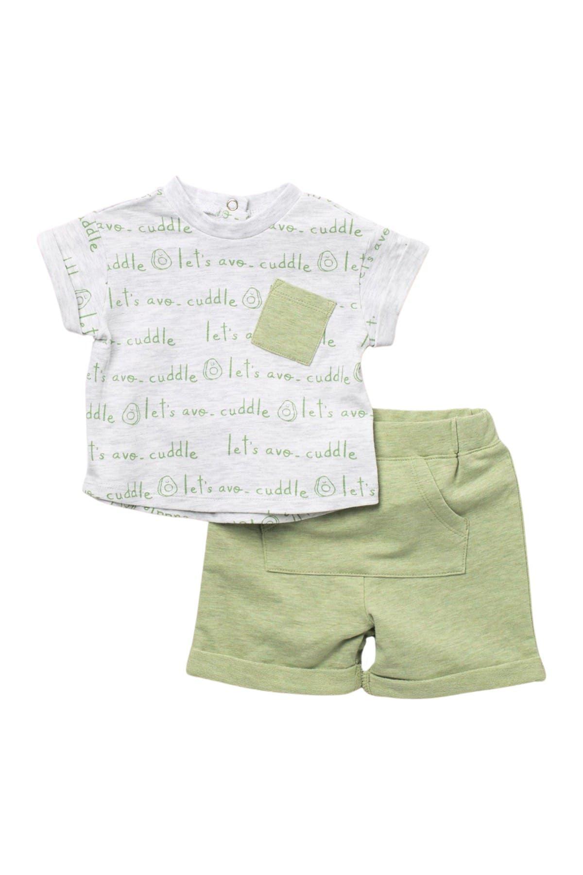 Image of FOCUS Avocado T-Shirt & Shorts 2-Piece Set