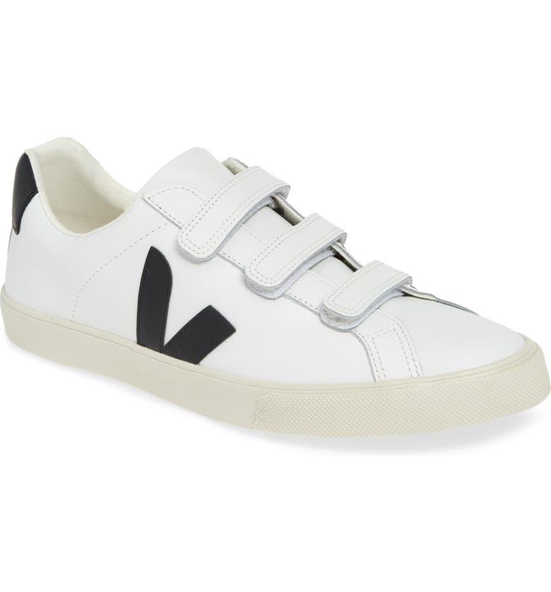 VEJA Esplar 3-Lock Sneaker, Main, color, EXTRA WHITE BLACK