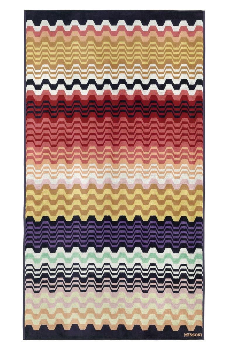 MISSONIHOME Lara Beach Towel, Main, color, MULTI BRIGHT