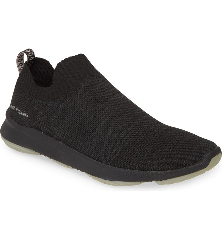 HUSH PUPPIES<SUP>®</SUP> Hush Puppies Free Slip-On Sneaker, Main, color, BLACK KNIT