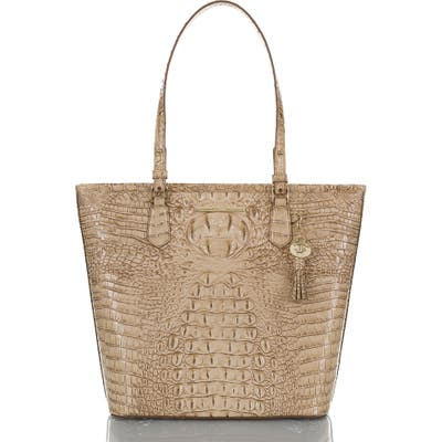 Brahmin Asher Croc Embossed Leather Tote -