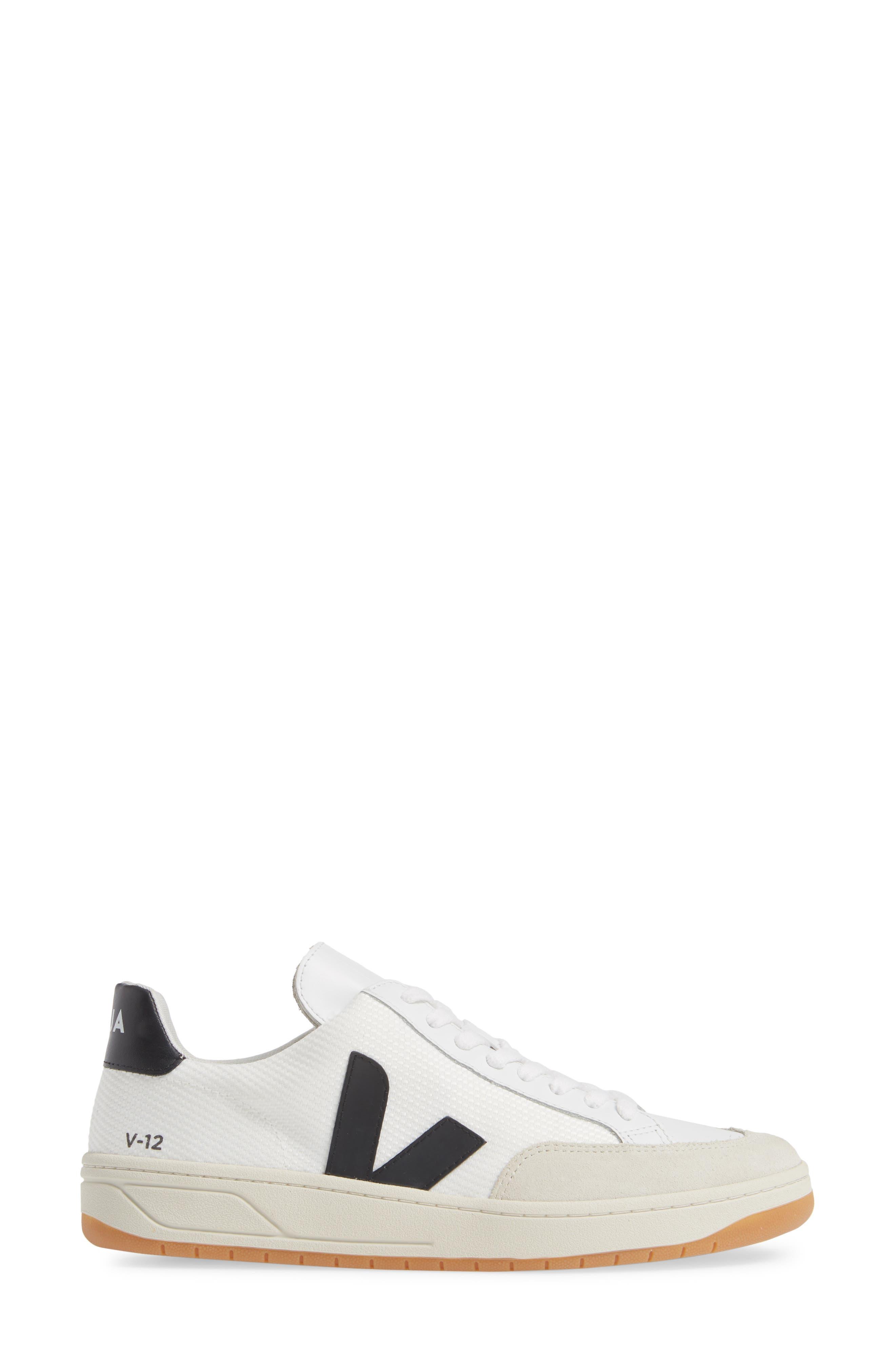 ,                             V-12 Sneaker,                             Alternate thumbnail 3, color,                             WHITE BLACK