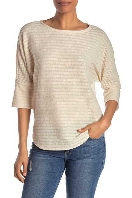 Image of Max Studio 3/4 Sleeve Striped Top