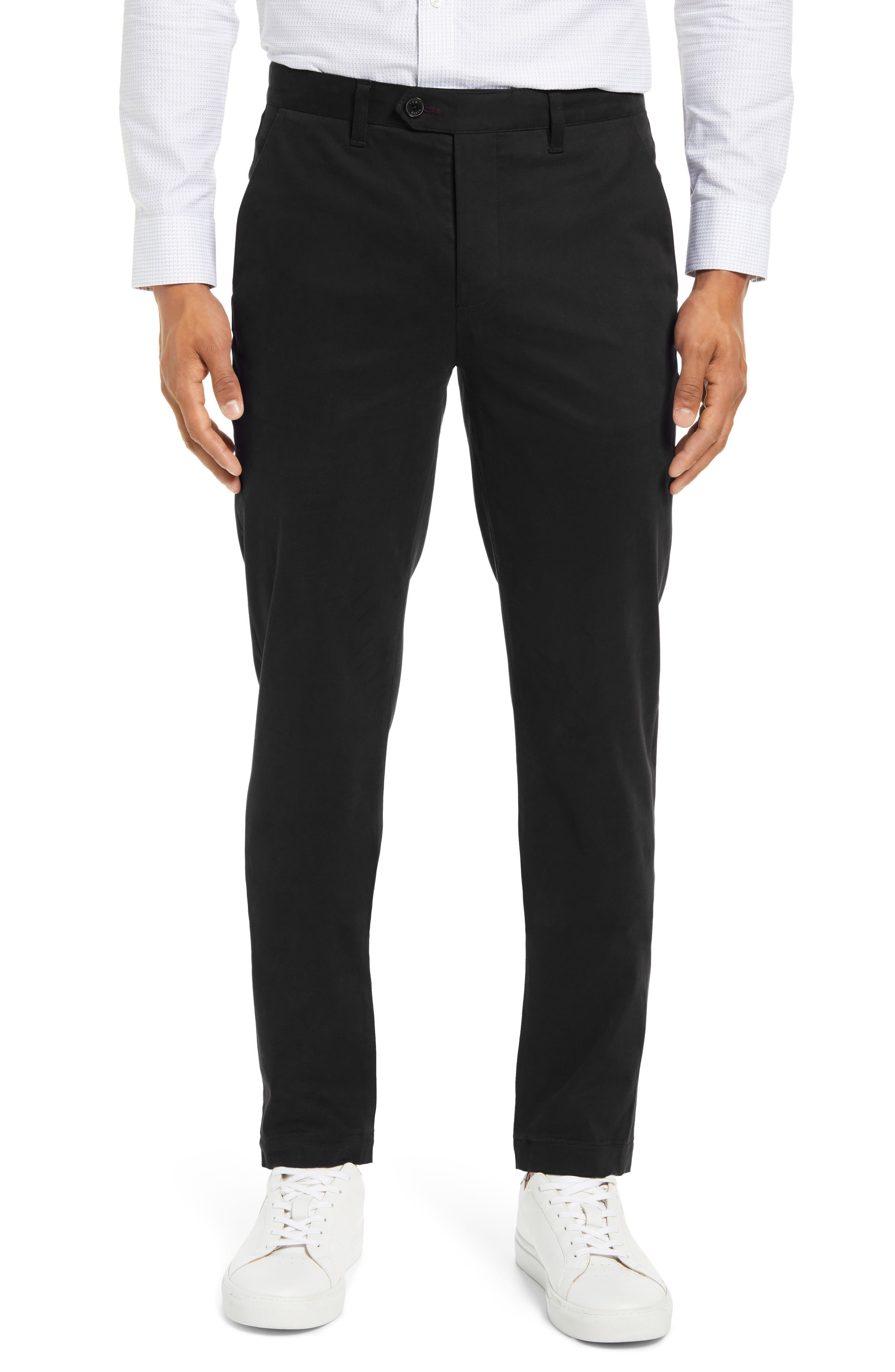 Image of Ted Baker London Indony Slim Fit Flat Front Pants
