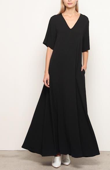Essentials Crepe Maxi Dress, video thumbnail