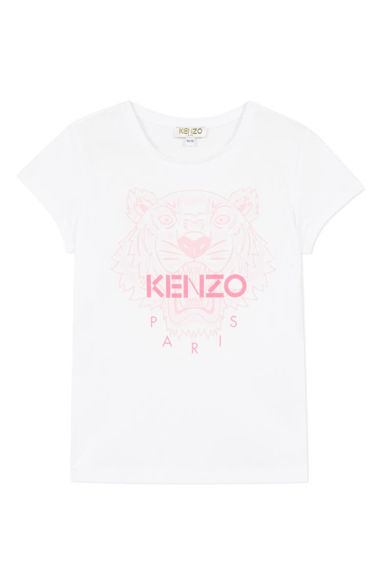 KENZO Tiger Graphic Tee, Main, color, WHITE