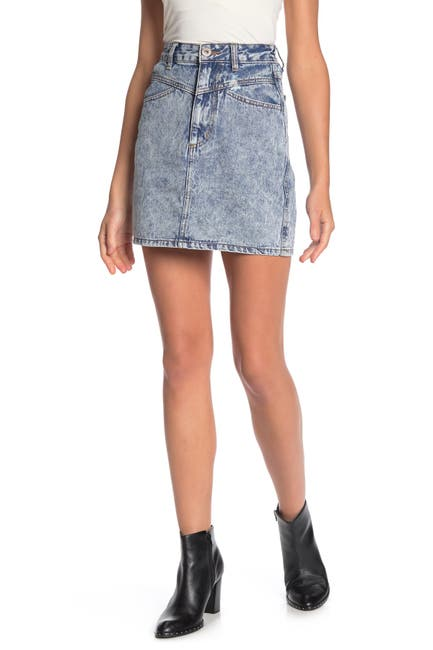 Image of Cotton On The Re-Made Denim Mini Skirt