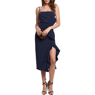 Bardot Rona Sleeveless Midi Dress, Blue