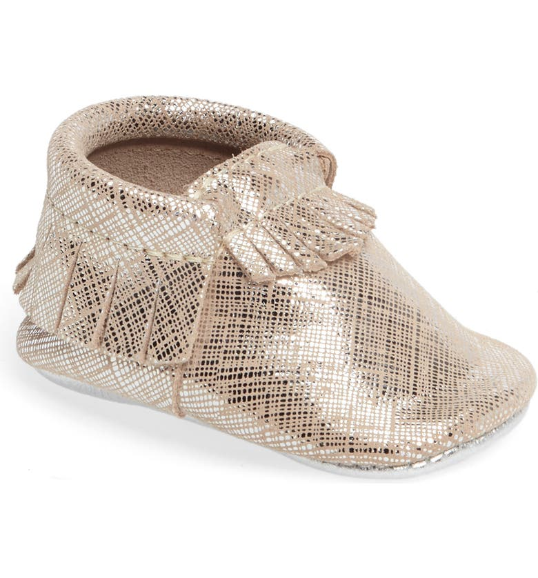FRESHLY PICKED Fringe Metallic Moccasin, Main, color, 710
