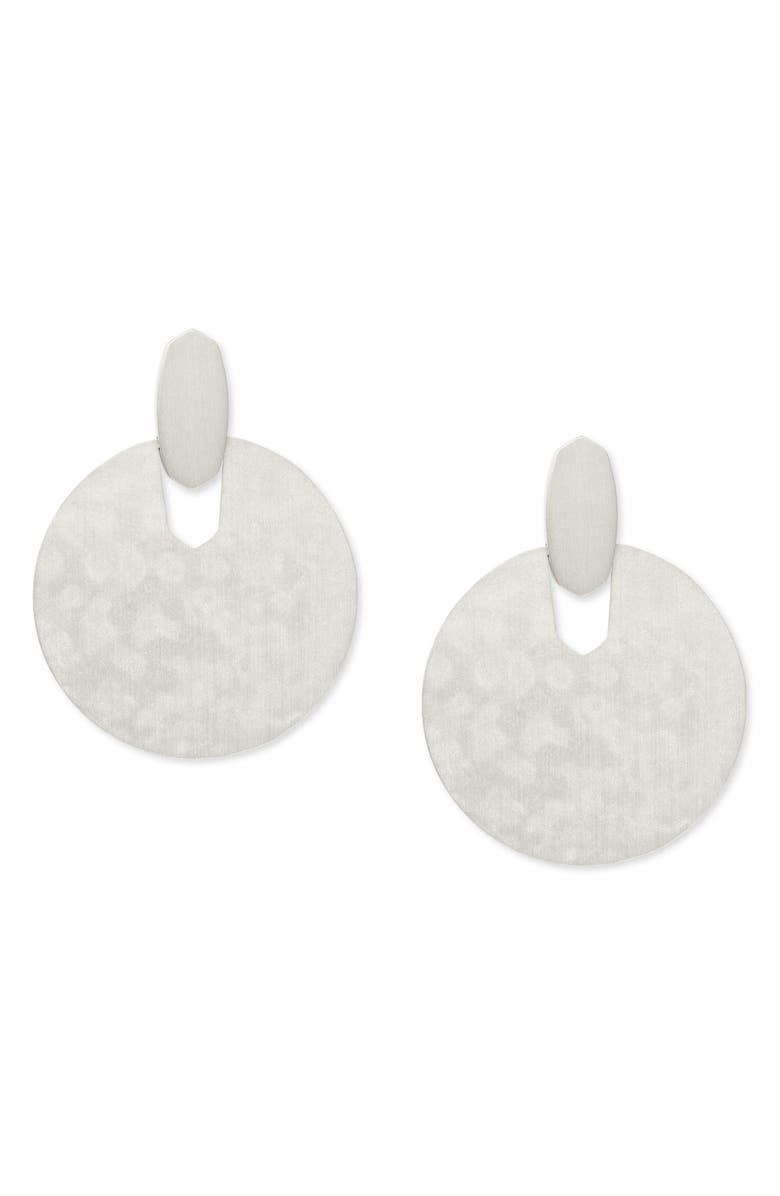 KENDRA SCOTT Didi Disc Earrings, Main, color, SILVER