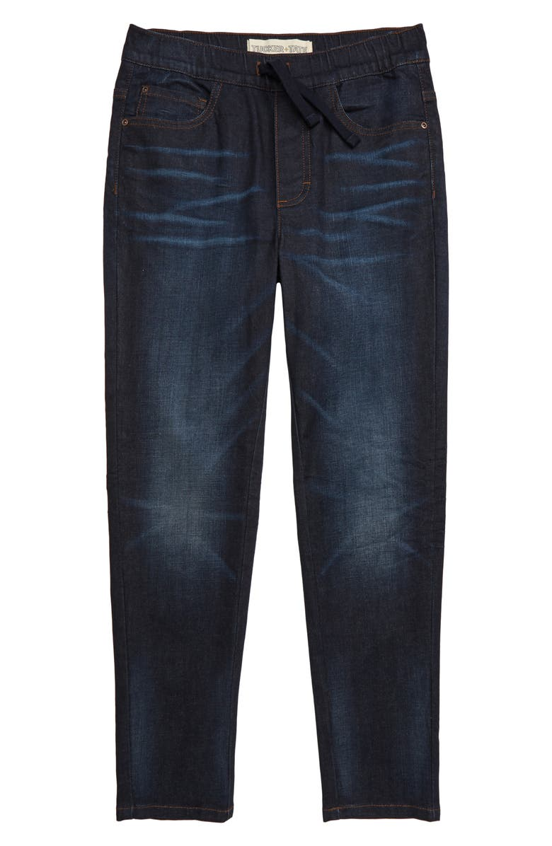 TUCKER + TATE Slim Straight Leg Jeans, Main, color, MICA BAY WASH