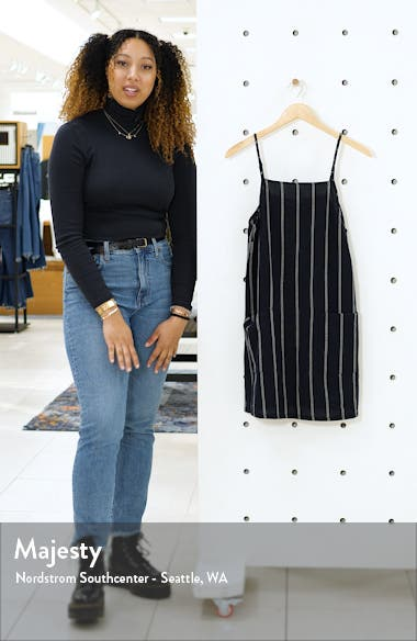 Stripe Cotton & Linen Blend Sundress, sales video thumbnail
