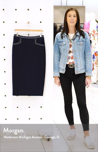 Sedley Topstitch Pencil Skirt, sales video thumbnail