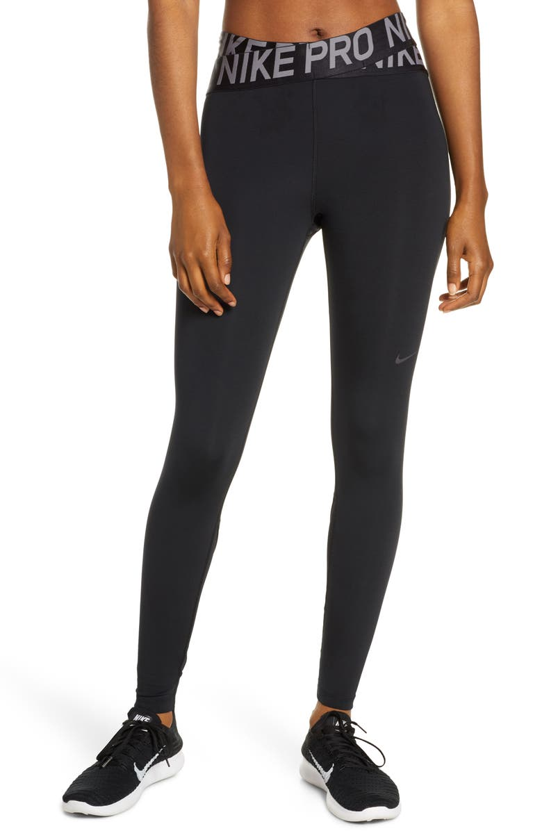 NIKE Pro Intertwist 7/8 Tights, Main, color, BLACK/ THUNDER GREY