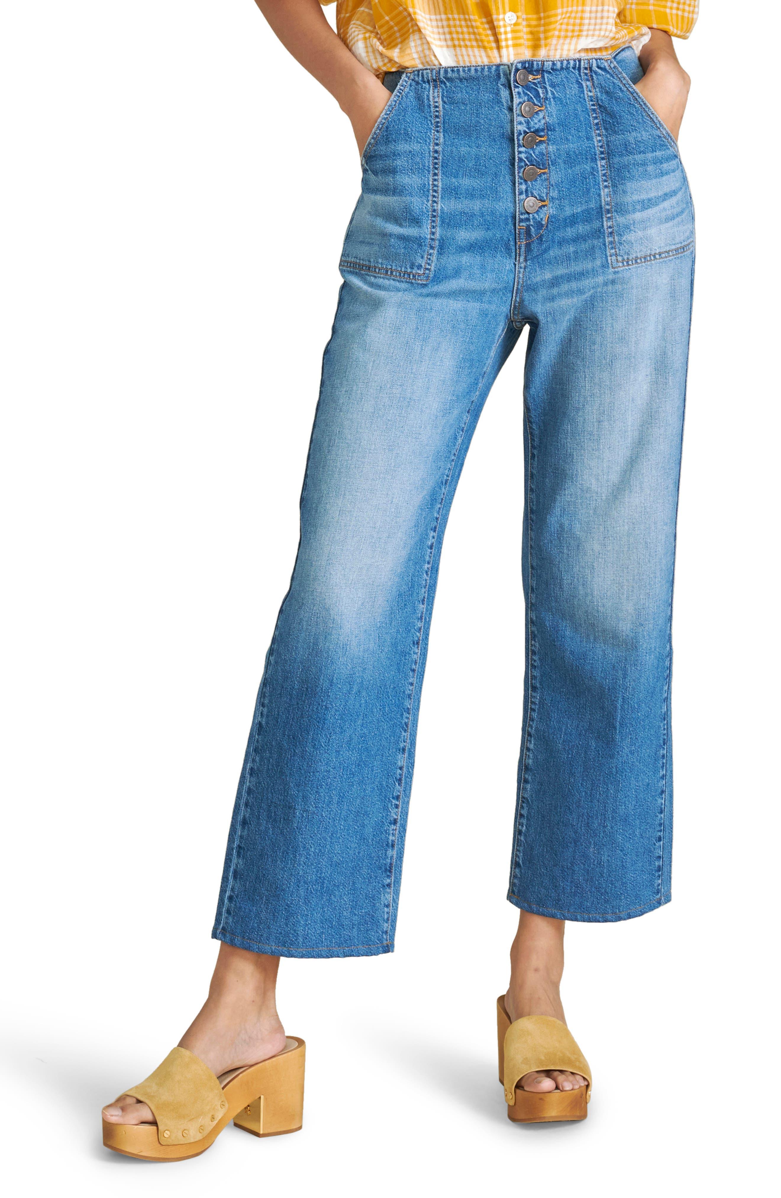 Ladies Women Girls Elastic Waist With Open Botton Leg Crop Short Trouser Bottom