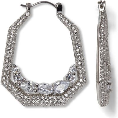 Vince Camuto Pave Crystal Hoop Earrings