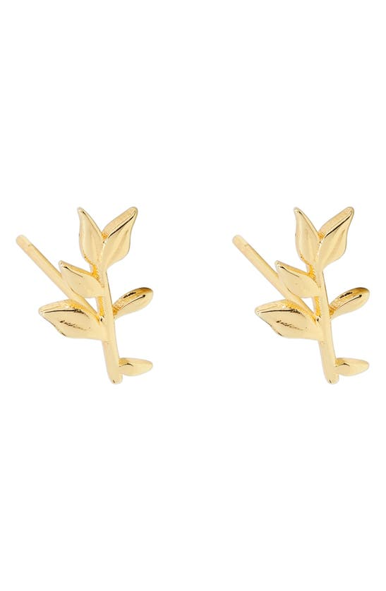 Gorjana Autumn Stud Earrings In Gold